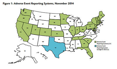 Serious Adverse Event Reporting Map