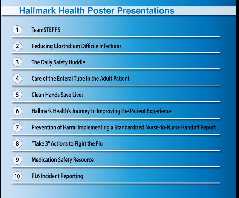 Hallmark Health 10 Posters
