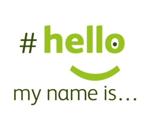 Hello My Name Is Logo Square